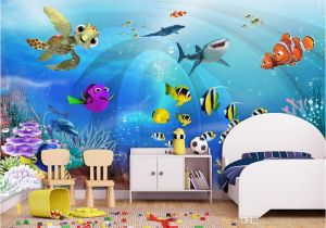 Painted Wall Murals for Kids 3d Wallpaper Custom Mural Sea World Children Room Scenery