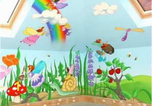 Painted Wall Murals for Kids Cartoon Characters or Animals Mural Painting for the Kids Room