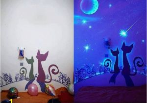 Painted Wall Murals for Kids Glow In the Dark Paint Wall Murals Arts & Craft