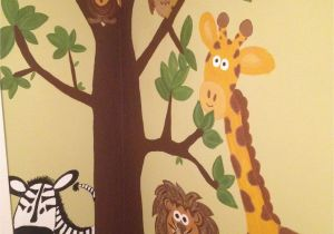 Painted Wall Murals for Kids Jungle Wall Mural Hand Painted =]