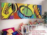 Painted Wall Murals for Kids Kids Childrens Wall Murals Art Music theme