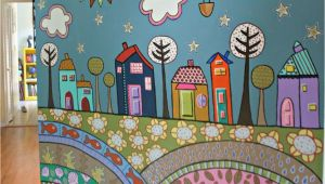 Painted Wall Murals for Kids More Fence Mural Ideas Back Yard