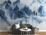 Painted Wall Murals Nature 3d Chinese Tv Background Wall Paper Ink Landscape Artistic Mural