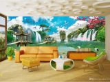 Painted Wall Murals Nature 3d Room Wallpaper Custom Non Woven Mural Chinese Landscape