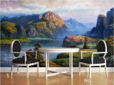 Painted Wall Murals Nature Realistic Landscape Oil Paintings Valley Spring Mural