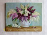 Painted Wall Murals Near Me Bouquet Lilac White Lilac Painting original Oil Painting