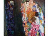 Painted Wall Murals Near Me original Wall Picture Gustav Klimt Death and Life Wall