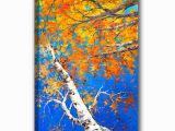 Painted Wall Murals Of Trees 2019 Hand Painted Oil Painting Canvas Impressionist Birch forest Picture Framed Painting Wall Art Living Room Bedroom Wall Decor From