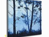 Painted Wall Murals Of Trees Amazon Hahal Wall Art Picture Tree Painting Paintings