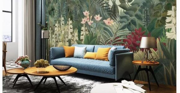 Painting A forest Wall Mural Oil Painting Jungle forest Trees Wallpaper Wall Mural Dark