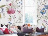 Painting A Mural On A Bedroom Wall Floral Wallpaper Old Painting Plants Mural Self Adhesive