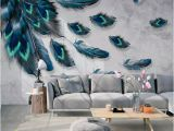 Painting A Mural On A Textured Wall Custom Mural Wallpaper 3d Fashion Colorful Hand Painted Feather Texture Wallpaper for Walls Roll Bedroom Living Room Home Decor Wallpaper Border