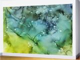 Painting A Mural On A Textured Wall Green Blue Yellow Textures Ink Abstract Painting Wall Mural