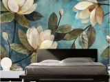 Painting A Mural On A Textured Wall High Quality Deep Texture 3d White Lotus Retro Style Oil