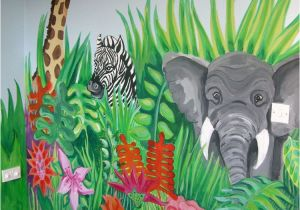 Painting A Mural On A Wall with Acrylic Paint Jungle Scene and More Murals to Ideas for Painting Children S