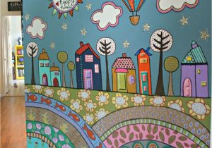 Painting A Mural On A Wall with Acrylic Paint More Fence Mural Ideas Back Yard