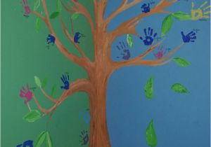 Painting A Tree Mural Family Handprint Tree Wall Mural Ideas Pinterest