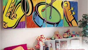 Painting Childrens Wall Murals Kids Childrens Wall Murals Art Music theme