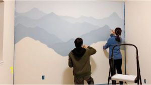 Painting Mountain Mural On Wall How to Paint A Mountain Mural On Your Bedroom or Nursery