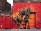 Painting Mural On Brick Wall Murals by Daleast Seem to Explode with Energy