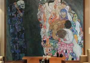 Painting Murals On Bedroom Walls Gustav Klimt Oil Painting Life and Death Wall Murals