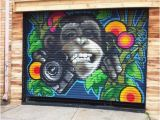 Painting Murals On Brick Walls Funky Ape Garage Door Seddon Victoria Australia Image