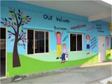 Painting Murals On School Walls Educational theme Wall Painting