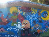 Painting Murals On School Walls File A Mural Painted On A Classroom Wall at Niue Primary