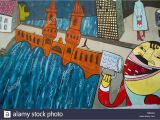 Painting Murals On Walls Outside East Side Gallery is An Outdoor Art Gallery Located On A