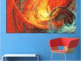 Painting Wall Murals Type Of Paint Großhandel Wall Art Malerei Rot Und Blau Abstrakte Wandbilder Für Wohnzimmer Poster Und Drucke Kein Rahmen Von Framedpainting $25 89 Auf