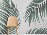 Palm Leaf Wall Mural Mixed Tropical Leaves Wallpaper In 2019