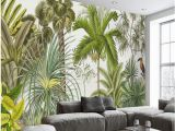Palm Leaf Wall Mural Us $8 85 Off Beibehang Classic Retriever Wallpaper Retro Tropical Rainforest Parrot Palm Leaf Living Room Tv Background Wall Papel De Parede W