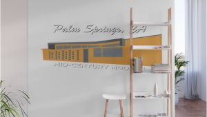 Palm Springs Wall Mural Mid Century Modern Palm Springs Wall Mural by Jayhookerphotography