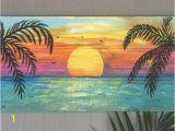 Palm Tree Beach Wall Mural Beach Palm Trees Sunset Custom Sign 36×16 Palm Trees