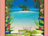 Palm Tree Beach Wall Mural Flamingo Bedding Sets Tropical Wall Murals Beach Bedrooms
