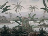 Panoramic Wall Art Murals Mandalay Grisaille Panoramic Wallpaper