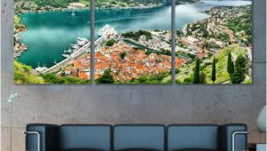 Panoramic Wall Art Murals Montenegro Wall Art Kotor Panoramic Canvas Print Kotor Skyline Kotor Wall Art Kotor Print Kotor Poster Montenegro Gift Montenegro Decor