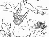 Parable Of the sower Coloring Page Parable Of the sower Farmer Scattered Seed Among Thorns