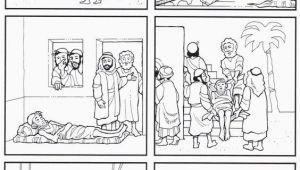 Paralyzed Man Lowered Through Roof Coloring Page 32 Paralyzed Man Lowered Through Roof Coloring Page In