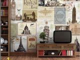 Paris Cafe Wall Mural Fashion Vintage 3d Wallpaper Mural European Style Retro