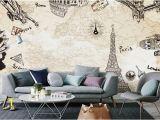 Paris Cafe Wall Mural Großhandel Europa Paris Der Eiffelturm Große Fototapete Murals Wohn Room3d Wand Papier Für Wände 3 D Papel De Parede Para Quart Von Xunxun66 $18 1