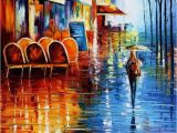 Paris Cafe Wall Murals Leonid Afremov Cafe In Paris Oil Painting Reproductions for Sale