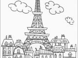 Paris Coloring Pages for Adults Paris Buildings & Eiffel tower Cute Coloring Page to On