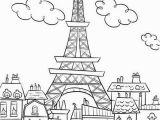 Paris Coloring Pages for Kids Eiffel tower Coloring Pages and Book Uniquecoloringpages