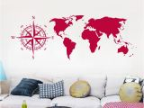 Paris Map Wall Mural Five Colors Optional Wall Stickers World Map Wall Decals for Living Room Fice Decoration Pvc Mural Removable Cheap Wall Clings Cheap Wall Decal From