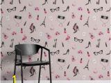 """Paris Map Wall Mural Tapeten Wandbild """"fashion Illustration"""" Murals Wallpaper"""
