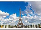 Paris Wall Mural Eiffel tower Amazon Panoramic View Of Eiffel tower In Paris Paper