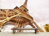 Paris Wall Mural Eiffel tower Custom 3d Photo Wallpaper Paris Eiffel tower Scenery