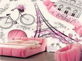 Paris Wall Murals Cheap Us $25 0 Wallpaper Murals Romantic Travel In Paris Modern Murals for Kids Room Living Rooms sofa Backgrounds Papel De Parede In Wallpapers From