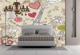 Paris Wall Murals Wallpaper Amazon Wall Mural Sticker [ Paris Decor Doodles